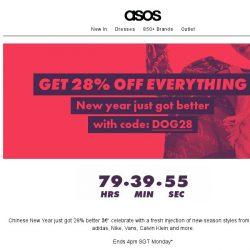 [ASOS] Now 28% off everything!