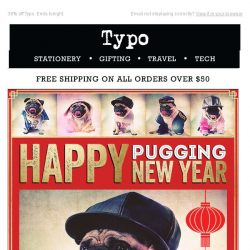 [typo] Happy Pugging New Year, LAST CHANCE to get 38% off!
