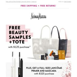 [Neiman Marcus] Free tote + beauty gifts