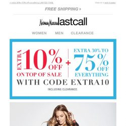 [Last Call] Lafayette + extra 10% off on top of sale