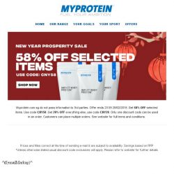 [MyProtein] 🎆Limited Time CNY Sale