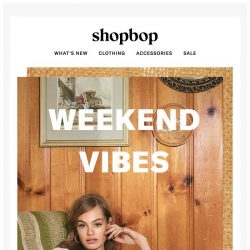 [Shopbop] Weekend vibes courtesy of MOTHER