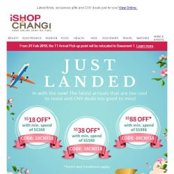 [iShopChangi] 🌼Just in: fresh picks just for you 🌼