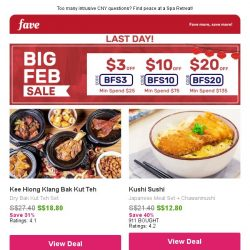 [Fave] Set meals everyday: Tea Valley, Chicken Hotpot & more!