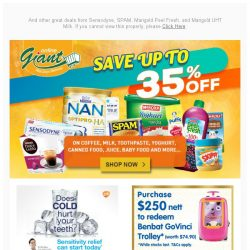 [Giant] 😍OMG! FREE Trolley from 🍼 NAN and FREE 🍞Bread Maker & Latte Glass Set from ☕Nescafe!