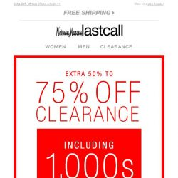 [Last Call] Extra 50%–75% off clearance, including new markdowns