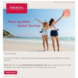 [Hotels.com] More Joy With Easter Savings