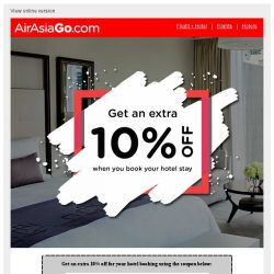 [AirAsiaGo] 💌 Hurry, this coupon offer is only valid for 7 days! 💌