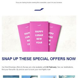 [Finnair] Last chance! Lunar New Year offers end today