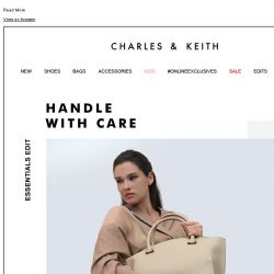 [Charles & Keith] ESSENTIAL EDIT: HANDLE WITH CARE