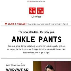 [UNIQLO Singapore] Let's talk about Ankle Pants.
