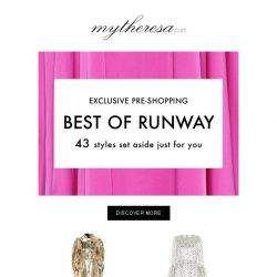 [mytheresa] Fresh off the runway: exclusive pre-shopping