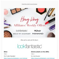 [The Hut] THG Beauty Weekly Offers
