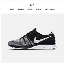 [Nike] Now Available: Flyknit Trainer 'Black & White'