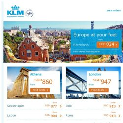 [KLM] Europe at your feet