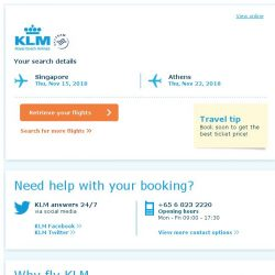 [KLM] Still interested in travelling to Athens?