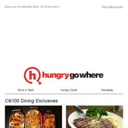 [HungryGoWhere] 50% Off on 2nd Main Course, 1-for-1 Dinner Deal & More for Citi Cardholders!