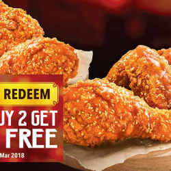 KFC: Flash Image to Enjoy 2 FREE Pcs of Honey Sesame Chicken with Every Purchase of 2 Pcs
