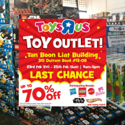 "Toys ""R"" Us: Final Toy Outlet Sale with Up to 70% OFF Hasbro, LEGO, Mattel, Hot Wheels & More Toys!"