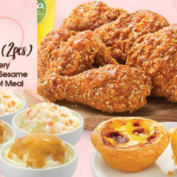 KFC: Flash Image to Redeem 2 FREE Portuguese Egg Tarts with Every Honey Sesame Meal