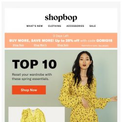 [Shopbop] Up to 25% off with code GOBIG18 + how to reset your wardrobe this spring