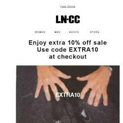 [LN-CC] EXCLUSIVE EXTRA 10% off AW17 SALE - Don't miss out