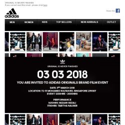 [Adidas] Adidas Originals Brand Film Event, 3rd March - You Are Invited!