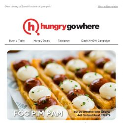 [HungryGoWhere] 50% Off Dining Bill, Exclusively for Singtel Customers by FOC Pim Pam