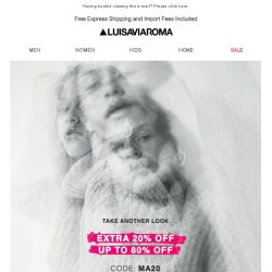 [LUISAVIAROMA] The sale won't last forever: Extra 20% off