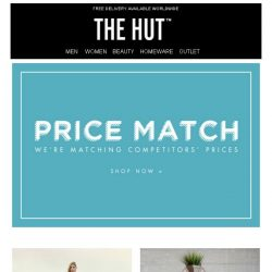 [The Hut] Kick start the weekend with these exclusive offers...