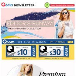 [Qoo10] Don't miss all these amazing fashion deals! Check out those shop coupons to enjoy greater savings!