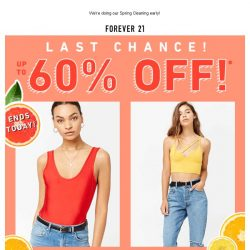 [FOREVER 21] 💥 FYI: Our Spring Flash Sale ends tonight!