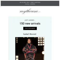 [mytheresa] 48 hours only: free shipping + Just in: Isabel Marant, Etro, JW Anderson...
