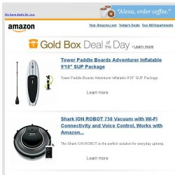 """[Amazon] Tower Paddle Boards Adventurer Inflatable 9'10""""..."""
