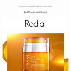 [RODIAL] It's Here: Discover our Vit C Brightening Mask
