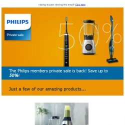 [PHILIPS] Come on down to 2018's first members private sale!