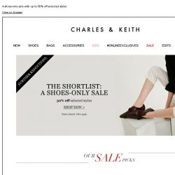 [Charles & Keith] Further Reductions | THE SHORTLIST