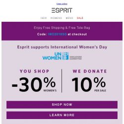 [Esprit] You shop, we donate