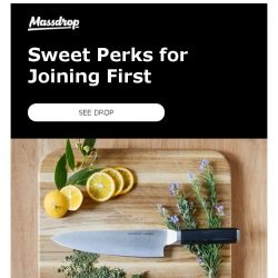 [Massdrop] Join the 870+ Members Who Have Purchased the Massdrop x Apogee Vital 8-Inch Chef's Knife for Some Sweet Perks