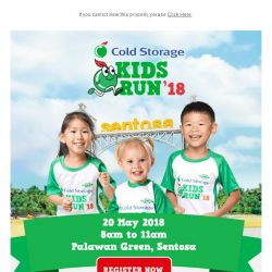 [Cold Storage] 🏃Cold Storage Kids Run is Back! 👦👧Register Now to Enjoy Early Bird Rates!