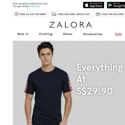 [Zalora] Wardrobe heroes at S$29.90!
