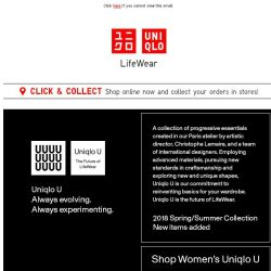 [UNIQLO Singapore] New items added! Uniqlo U Collection
