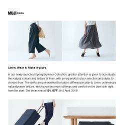 [Muji] MUJI Happenings this Weekend!