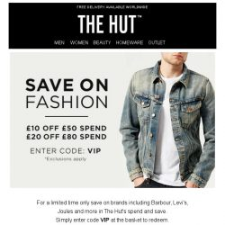 [The Hut] Spend and save this weekend with The Hut
