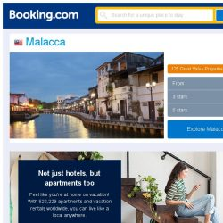 [Booking.com] Deals in Malacca from S$ 13