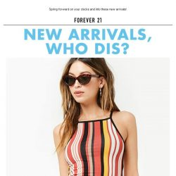[FOREVER 21] Don't forget! The Spring News