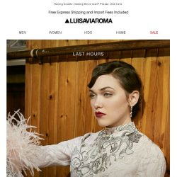 [LUISAVIAROMA] Only a few hours left to get 10% off