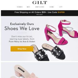 [Gilt] We're Having A Shoe Moment: Pure Navy, Saks Fifth Avenue & More