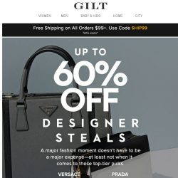 [Gilt] Designer Steals Feat. Versace, Jimmy Choo & More
