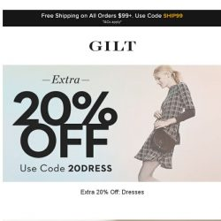 [Gilt] Extra 20% Off: Dresses | Golden Goose Sneakers and More Start Now